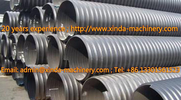 PE spiral pipe production machine