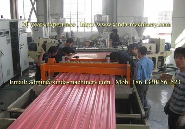 PVC tile extrusion line