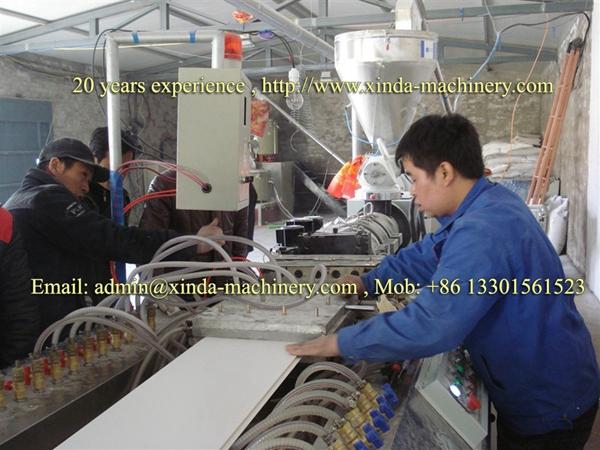 PVC ceiling panel making machine