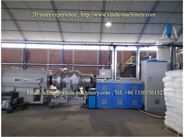HDPE PE pipe extrusion line