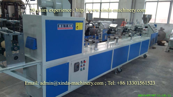 PVC U type edge banding making machine