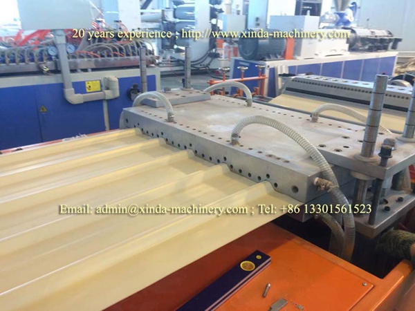 plastic roof tile making machine