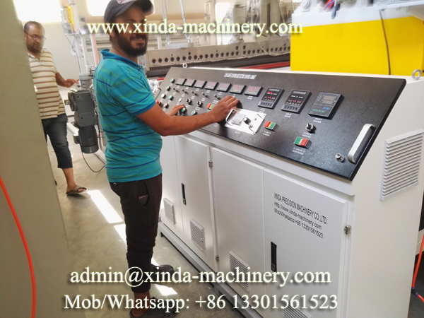 PVC backing PVC machine