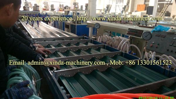 plastic roof tile making machine