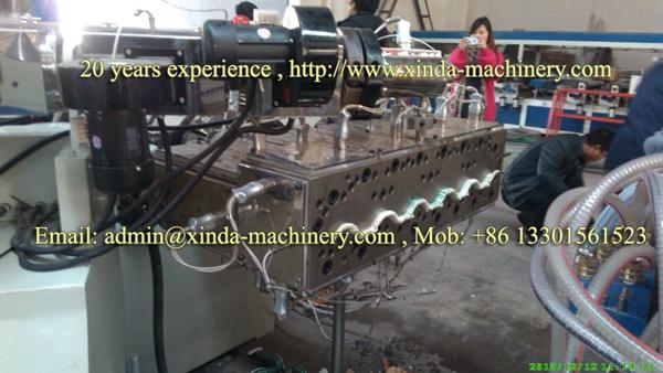 PVC hollow tile making machine