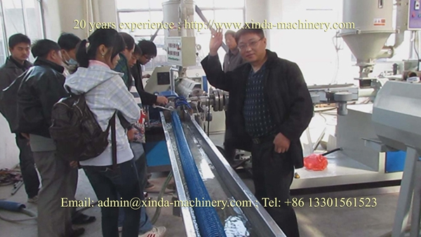 PVC twine reinfoced pipe extruder