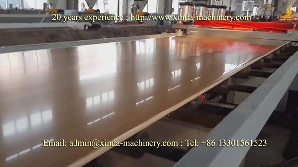 WPC PVC board making machine