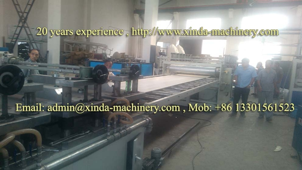 PVC building formwork extrusion line