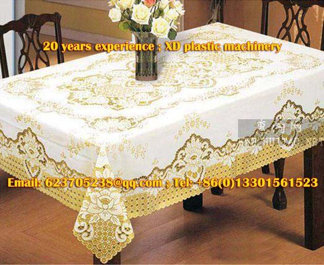 PVC gilding tablecloth making machine