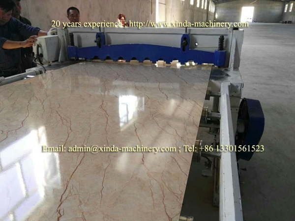 Artificial PVC marble sheet making machine