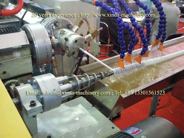 PVC spiral pipe making machine