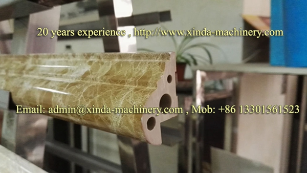 PVC marble profile making machine