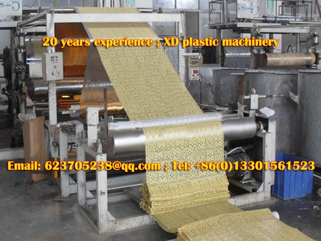 PVC hollow gilding coaster production line