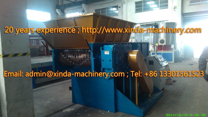 plastic shredder machinery