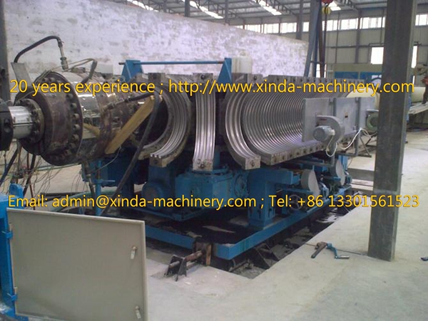 PE PP corrugated pipe machinery