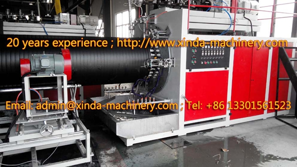 PE spiral pipe production line