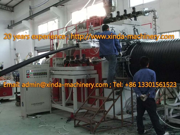 PE spiral tube making machine