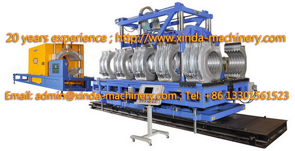 PVC double wall corrugated pipe line
