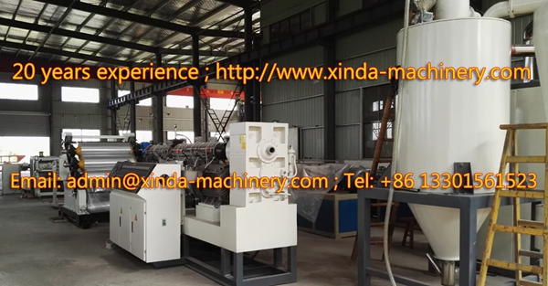 PET packing sheet making machinery