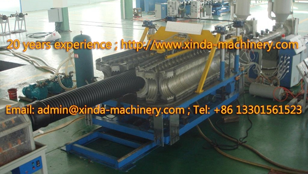 PE PP corrugated pipe line