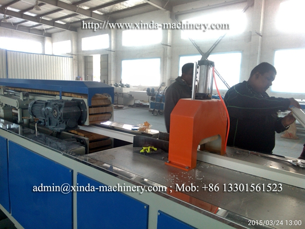 PVC window frame making machine