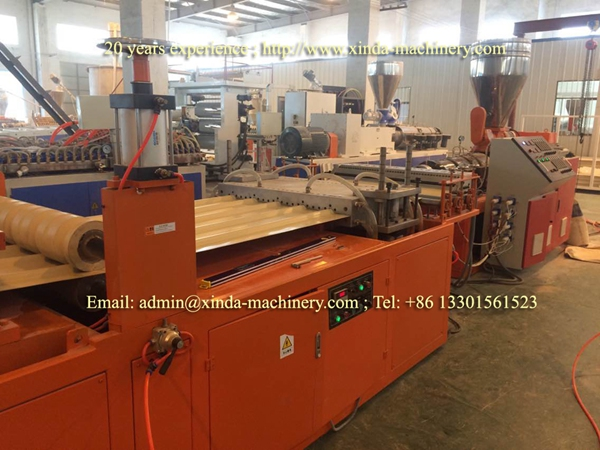 PE PP corrugated sheet production line