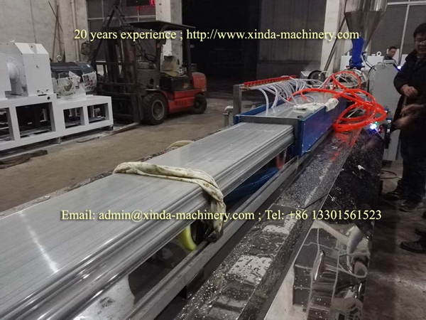 PVC artificial marble frame production line