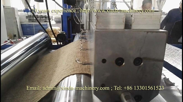 jute carpet coating TPR TPE machine