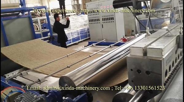 jute carpet coating TPE extruder