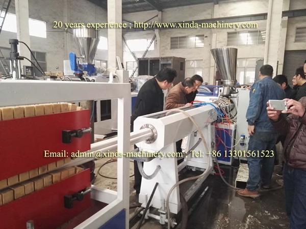 PVC plum pipe making machine