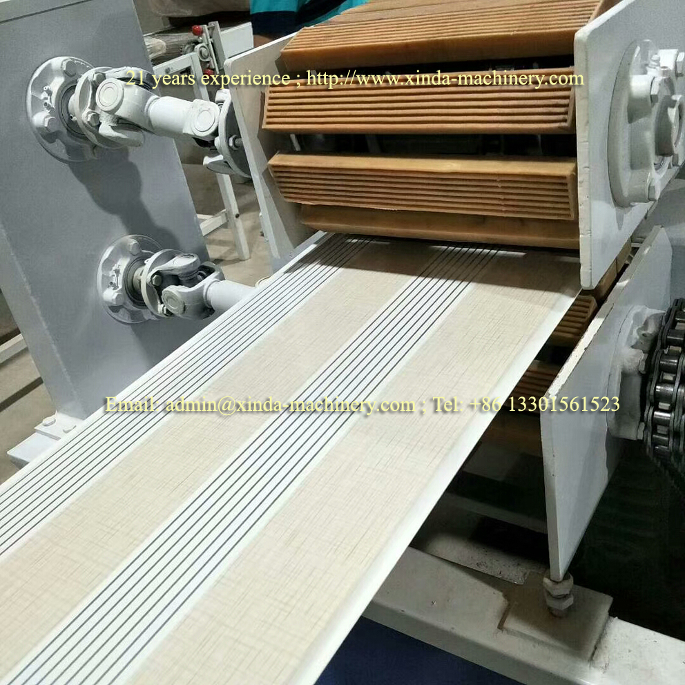 PVC ceiling making machine