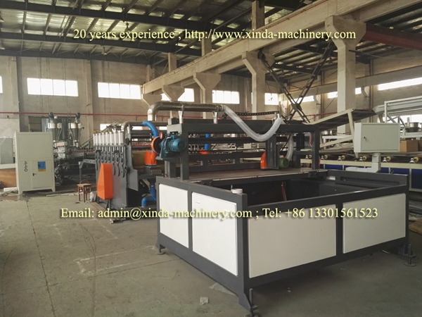 PVC quartz marble sheet machine