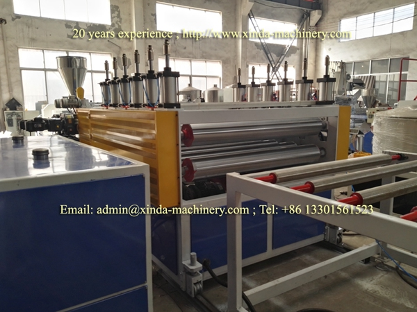 PVC quartz marbel board making machine