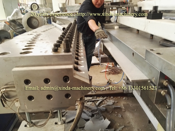 PVC quartz artificial marble sheet making machine