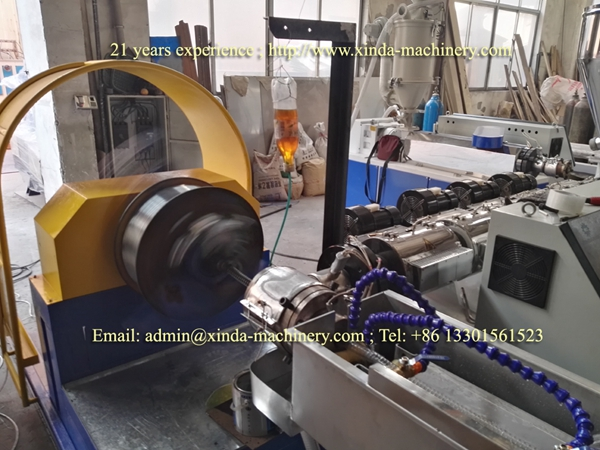 PVC wire spiral hose making machine