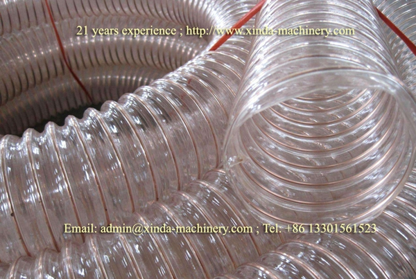 PVC wire spiral hose machine