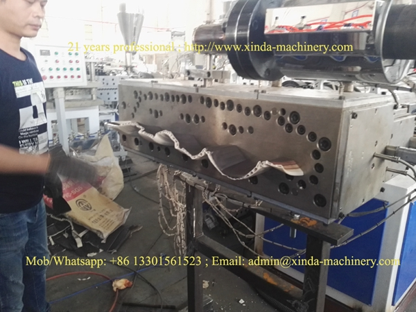 PVC tile making machine