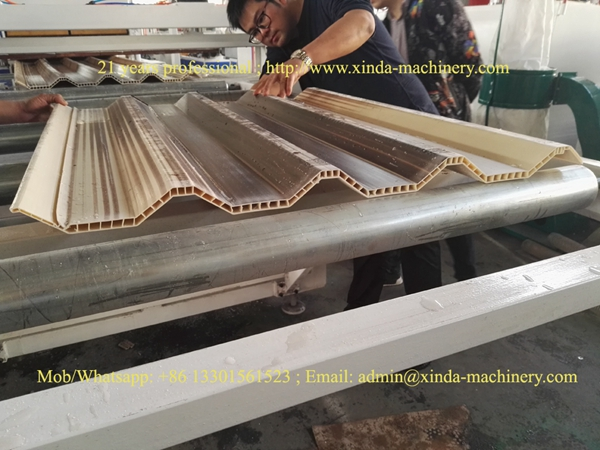 PVC hollow tile production line