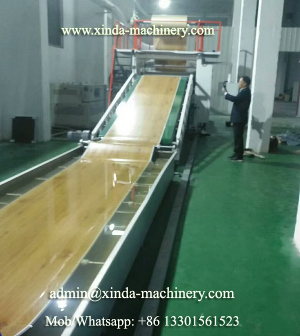 PVC floor machine