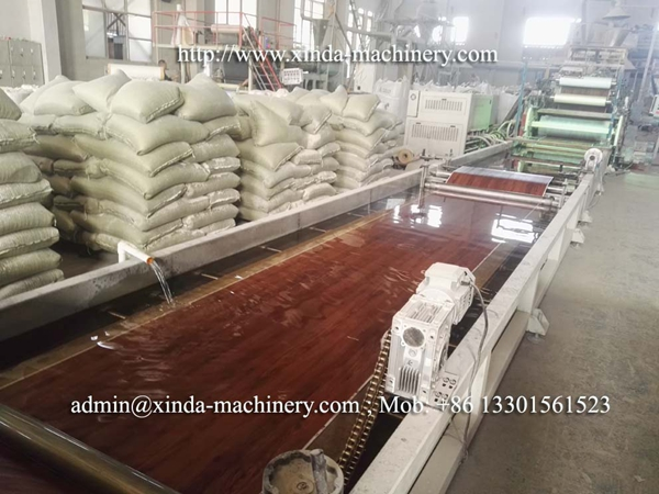 PVC floor production line