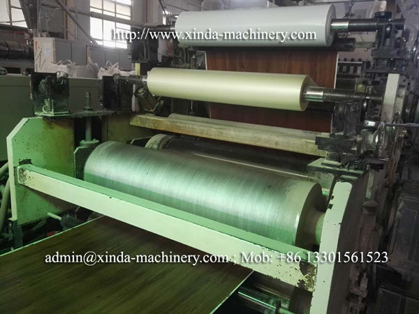 Vinyl LVT floor making machine
